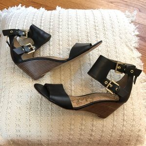 Sam Edelman Wedge Sandals with Ankle Straps